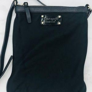 KATE SPADE Black Nylon Adjustable Shoulder Bag